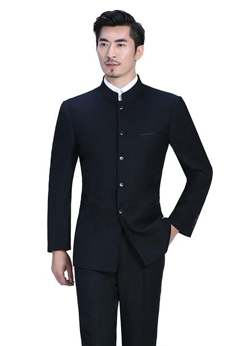 黑色西服订做