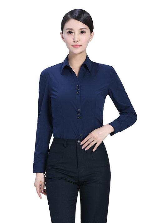 专业职业装女士衬衫长袖订