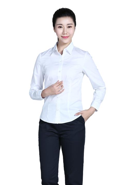 衬衫长袖女性职业装订制