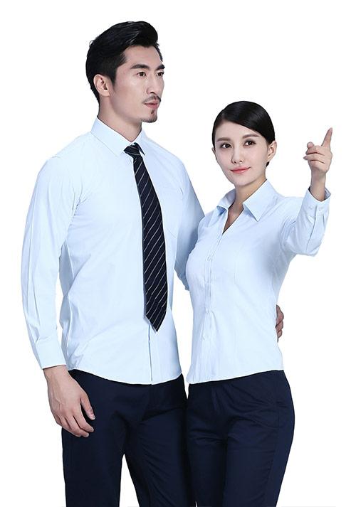浅蓝工作衬衫定制